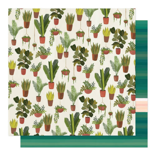 American Crafts - 1Canoe2 - Willow 12x12 Patterned Paper - Deep Breath