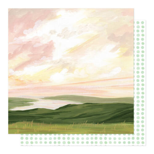 American Crafts - 1Canoe2 - Willow 12x12 Patterned Paper - Getaway