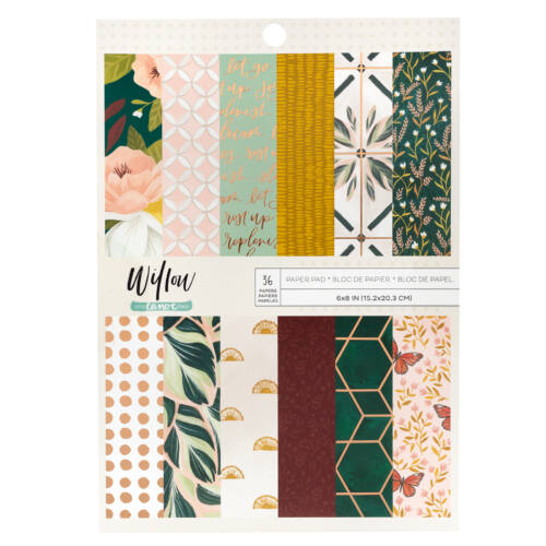 American Crafts - 1Canoe2 - Willow 6x8 Paper Pad (36 Sheets)