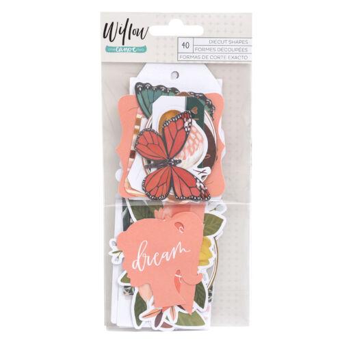 American Crafts - 1Canoe2 - Willow Ephemera (40 Piece)