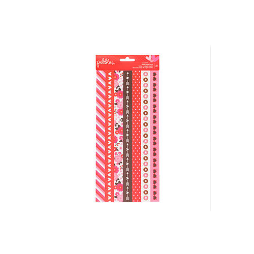 Pebbles My Funny Valentine Washi Tape Strips