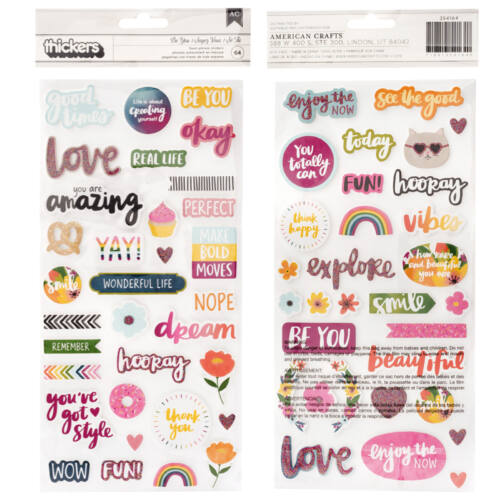 American Crafts - Amy Tangerine - Slice of Life Foam Phrase Thickers (64 Piece)
