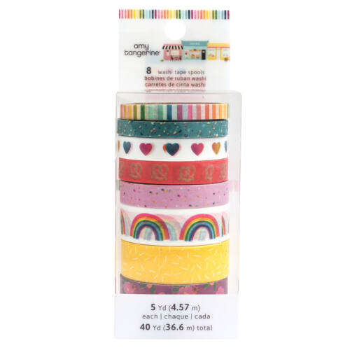 American Crafts - Amy Tangerine - Slice of Life Washi Tape Pack (8 Piece)