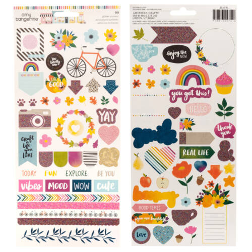 American Crafts - Amy Tangerine - Slice of Life 6x12 Stickers (93 Piece)