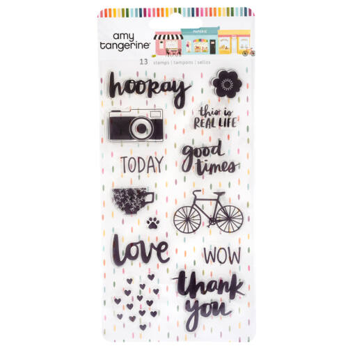 American Crafts - Amy Tangerine - Slice of Life Acrylic Stamps (13 Piece)
