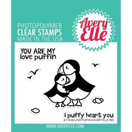 Avery Elle Clear Stamp - Love Puffin