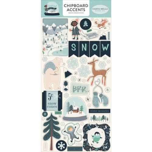 Carta Bella - Snow Much Fun 6x13 chipboard matrica - Accents