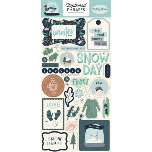 Carta Bella - Snow Much Fun 6x13 Chipboard Stickers - Phrases