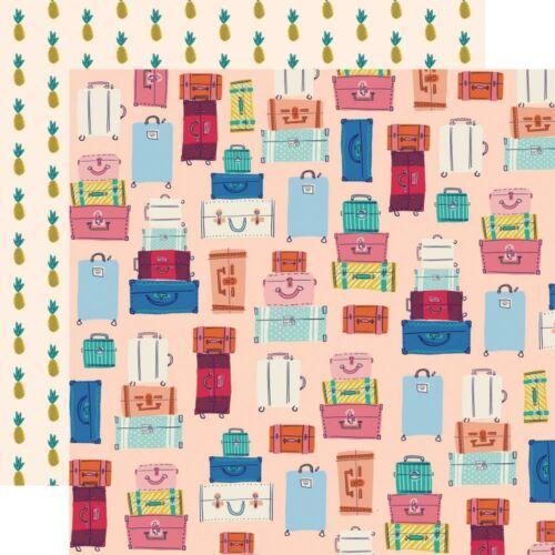 Carta Bella - Let's Travel 12x12 scrapbook paper - Bon Voyage