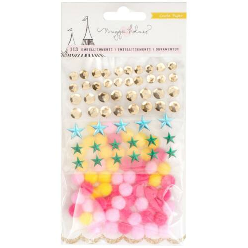 Crate Paper - Maggie Holmes Carousel Small Embellishment Mix