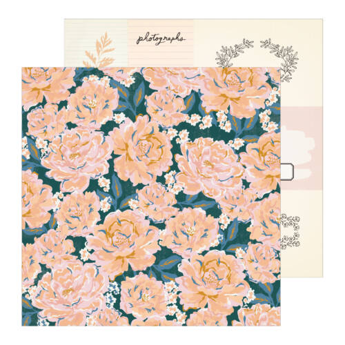 Crate Paper - Maggie Holmes - Heritage 12x12 Patterned Paper - Perennial