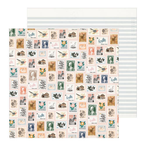 Crate Paper - Maggie Holmes - Heritage 12x12 Patterned Paper - Postmarked
