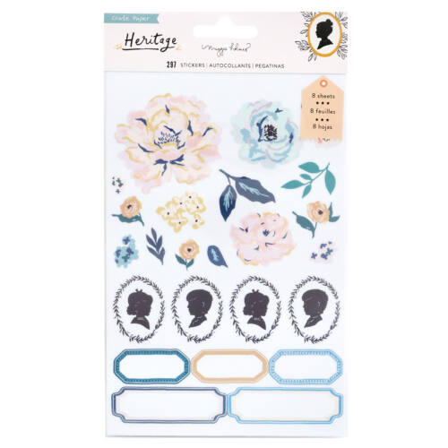 Crate Paper - Maggie Holmes - Heritage Clear Sticker Book (8 Sheets)