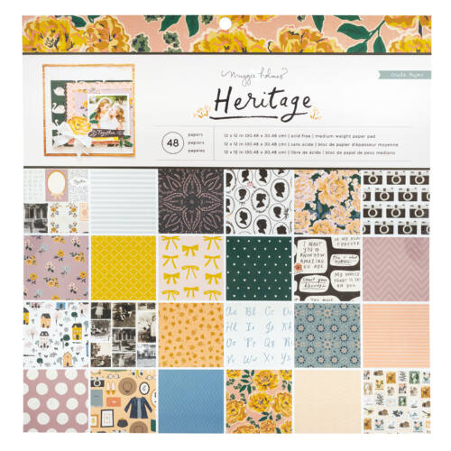 Crate Paper - Maggie Holmes - Heritage 12x12 Paper Pad (48 Sheets)