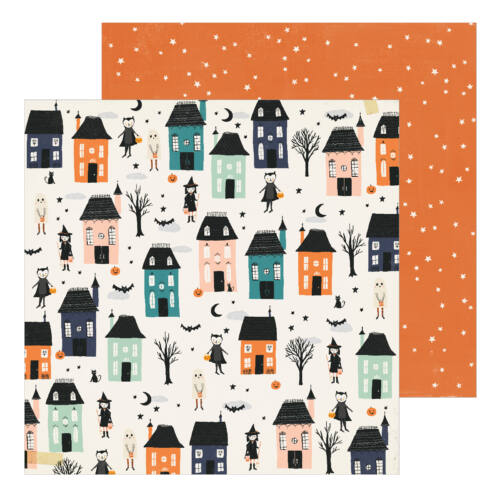Crate Paper - Hey, Pumpkin 12x12 Patterned Paper - Happy Haunting