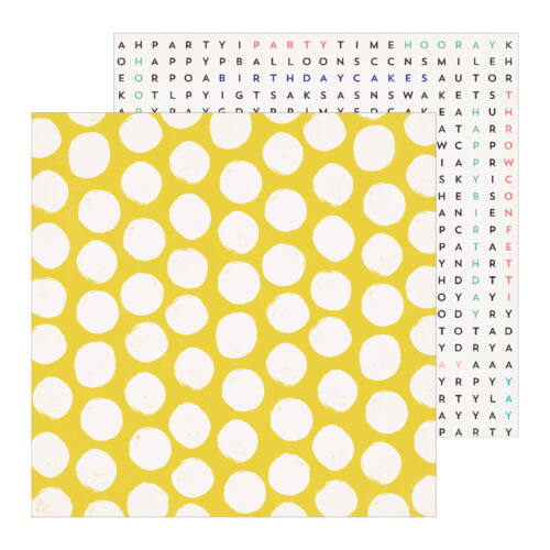 Crate Paper - Hooray 12x12 Patterned Paper -  Frosted