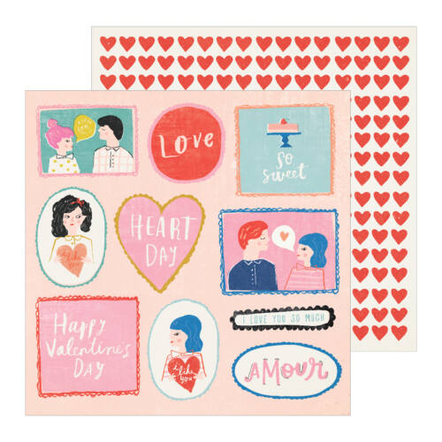 Crate Paper - La La Love 12x12 Patterned Paper - My Guy