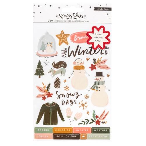 Crate Paper - Snowflake áttetsző matricás könyv (48 db)