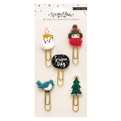 Crate Paper - Snowflake Rubber Paper Clips (5 Piece)