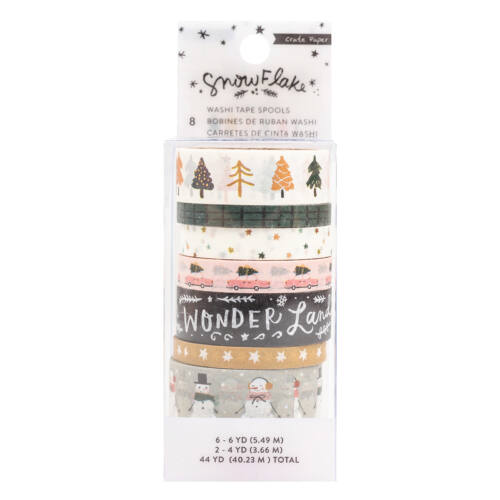 Crate Paper - Snowflake Washi Tape (8 Piece)