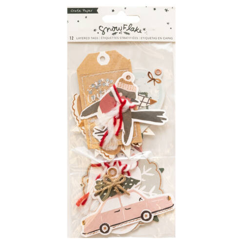 Crate Paper - Snowflake Layered Tags (12 Piece)