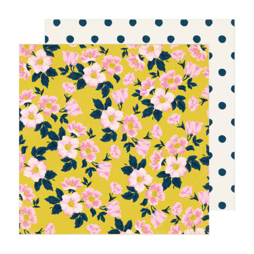 Crate Paper - Maggie Holmes - Sunny Days 12x12 Patterned Paper -  Apple Blossom