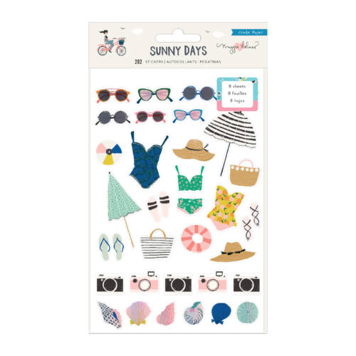 Crate Paper - Maggie Holmes - Sunny Days Sticker Book (202 Piece)