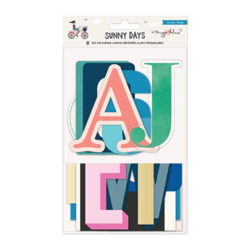 Crate Paper - Maggie Holmes - Sunny Days Die-Cut Alphas (32 Piece)