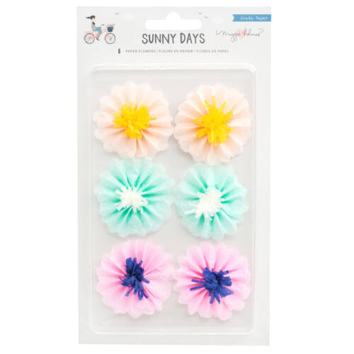 Crate Paper - Maggie Holmes - Sunny Days Tissue Paper Flowers (6 Piece)