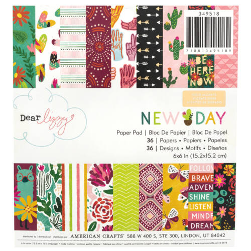 Dear Lizzy - New Day 6x6 Paper Pad 36 Sheets