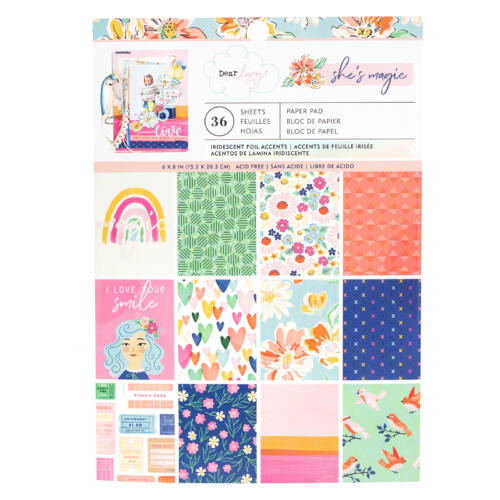 Dear Lizzy - She's Magic 6x8 Paper Pad (36 Sheets)