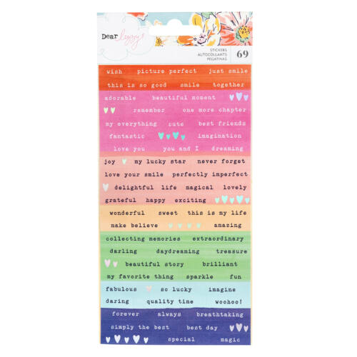 Dear Lizzy - She's Magic Confetti Stickers (69 Piece)