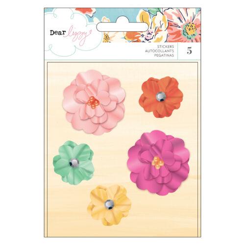 Dear Lizzy - She's Magic Dimensional Flowers (5 Piece)