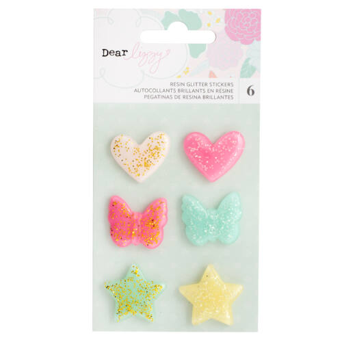 Dear Lizzy - Stay Colorful Glitter Resin Shapes
