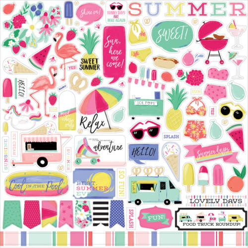 Echo Park - Best Summer Ever 12x12 Stickers