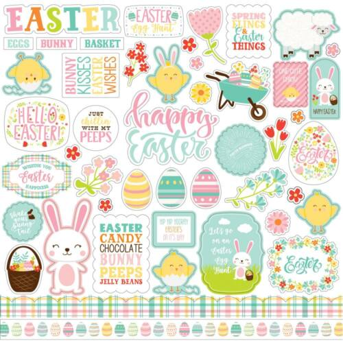 Echo Park - Easter Wishes 12x12 Cardstock Stickers