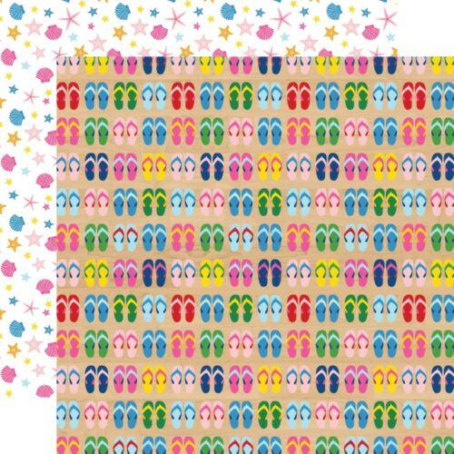 Echo Park - I Love Summer 12x12 Paper - Flip Flops