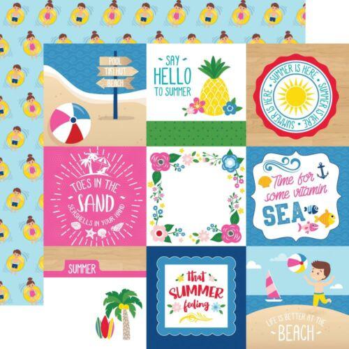 Echo Park - I Love Summer 12x12 Paper - 4x4 Journaling Cards
