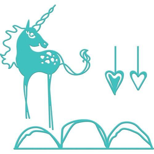 Spellbinders - Jane Davenport Artomology Etched Dies - Happy Little Unicorn