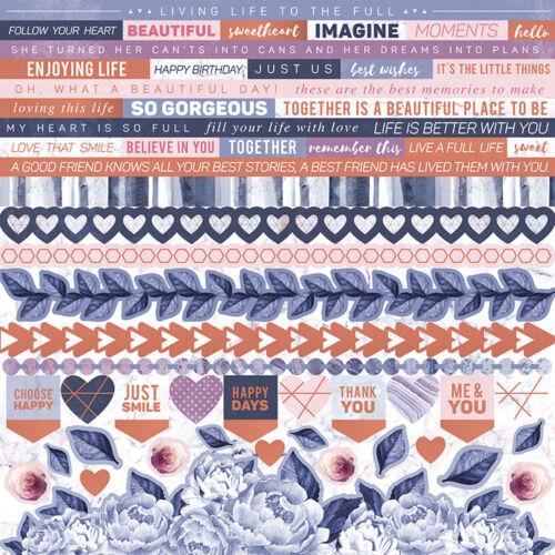 Kaisercraft - Misty Mountains 12x12 Cradstock Stickers