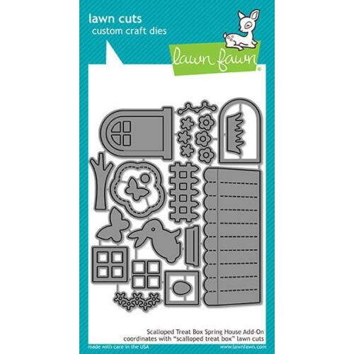 Lawn Cuts - Scalloped Treat Box Spring House Add-On