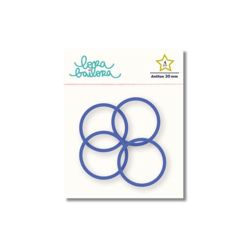 Lora Bailora - Book Ring 30 mm - Indigo (4 Pieces)
