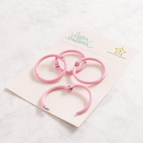 Lora Bailora - Book Ring 30 mm - Pink (4 Pieces)