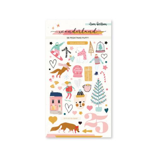 Lora Bailora - Wonderland Puffy Stickers (56 Pieces)