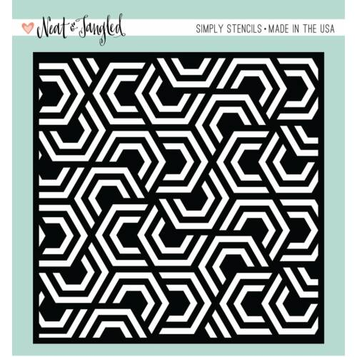 Neat and Tangled Simply Stencils - Nesting Hexagons
