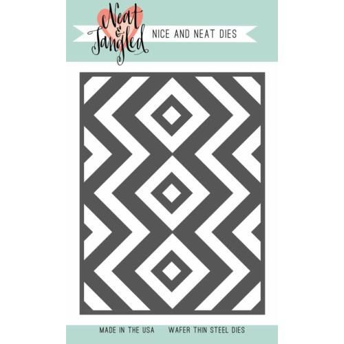 Neat and Tangled Cover Plate - Square and Chevrons