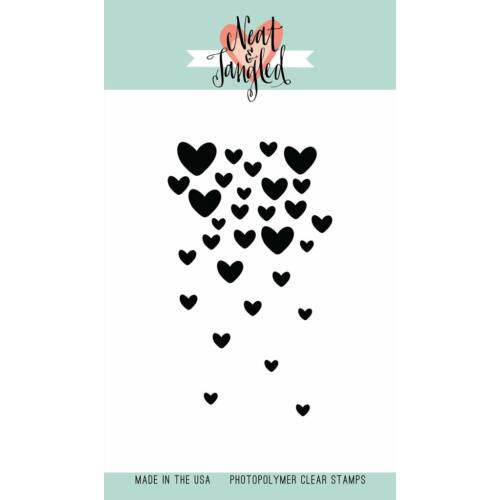 Neat & Tangled 3x4 Stamp Set - Falling Hearts
