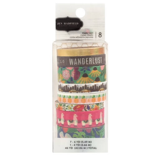Pebbles - Chasing Adventures Washi Tape (8 Piece)