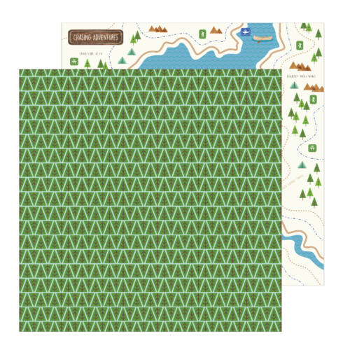 Pebbles - Chasing Adventures 12x12 Patterned Paper - Backwoods