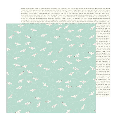 Pebbles - Chasing Adventures 12x12 Patterned Paper - Take Off